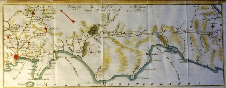Percorso da Napoli a Messina