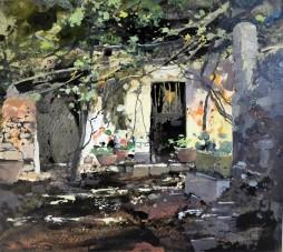 Cortile a Capri, 1948