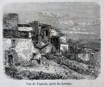 Veduta di Vignola (oggi Pignola), presa da Oriente