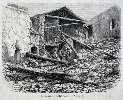 Interno del castello di Auletta