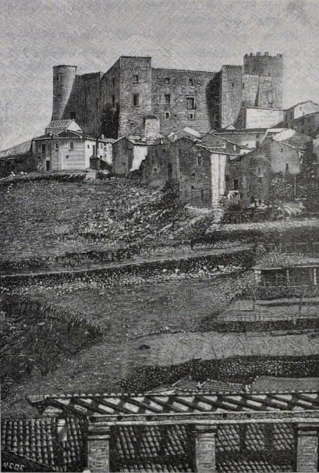 Moliterno veduta del Castello (Roma 1882)
