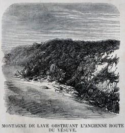 Montagna di lava ostruisce l'antica strada del Vesuvio