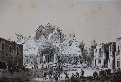 Veduta della Cattedrale di Rapolla, 1853