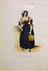 Fanciulla in tipico costume di Tramutola, 1840 circa
