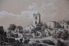 Veduta del campanile della Cattedrale di Melfi, 1853