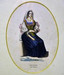 Costume di donna di Potenza, 1840