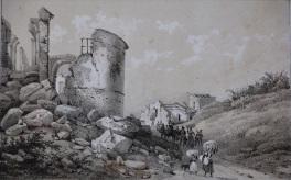 Veduta della Chiesa di Sant'Agostino in Melfi, 1853