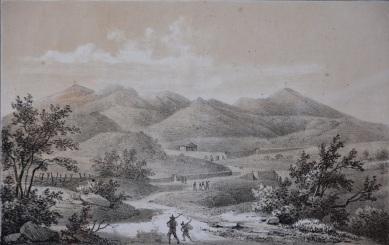 Veduta di una contrada di Rionero, 1853