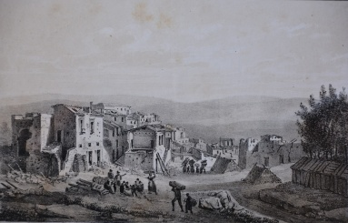 Veduta di Barile, 1853