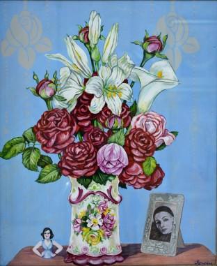 Vaso con fiori, 1972