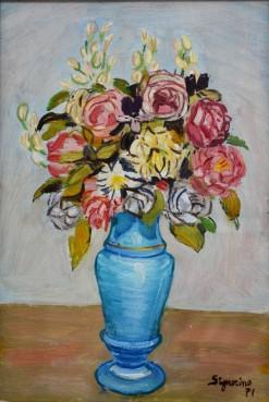 Fiori nel vaso celeste, 1971