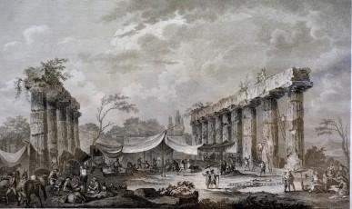 Rovine del tempio di Giunone in Metaponto, (Parigi 1820)