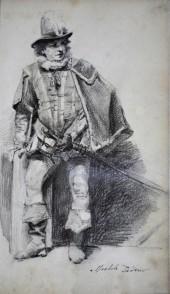 Figura di uomo in costume, 1884