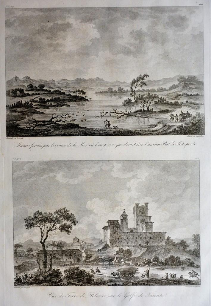 Dintorni di Metaponto – La Torre di Policoro, (Parigi 1820)