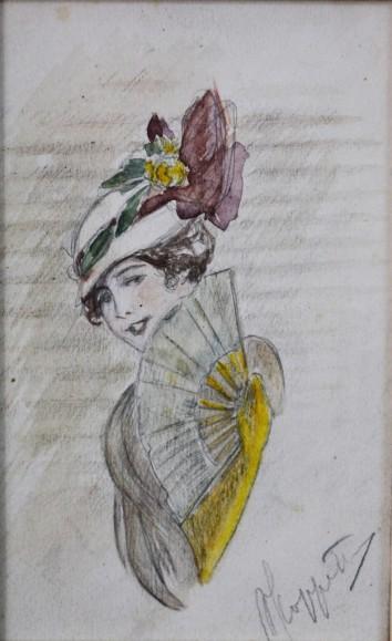 Donna con il ventaglio