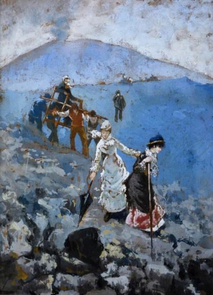 Sulla lava del Vesuvio, 1892